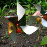 Recycled windmills for our mole