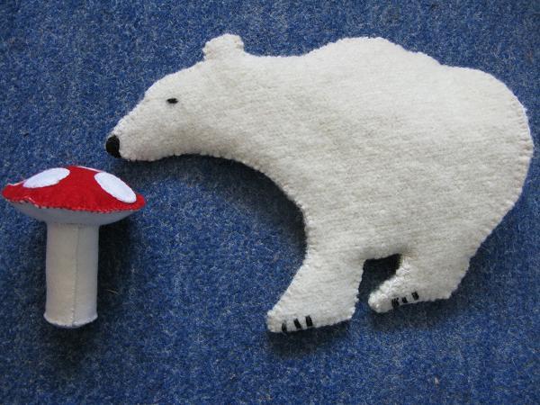 polar bear and toadstool