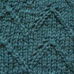 Knitting stitches – Lace Chevron Pattern