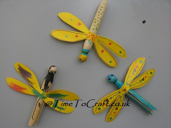 dragonflies on fridge
