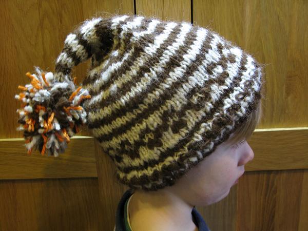 handspun handknitted hat 1