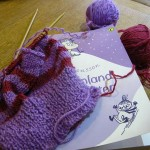 Yarn Along -Fliptop mittens
