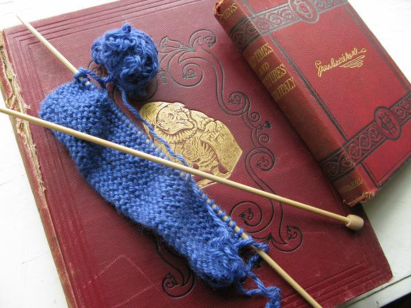 Knitting Blanket Squares