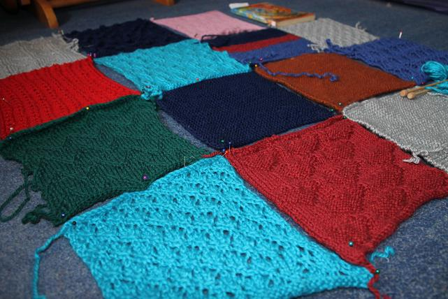 Knitting Patterns Blankets Patchwork : Knitting Patterns Baby Blanket Patchwork images
