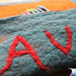Making felt with children