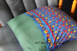 patchwork toadstool cushion back