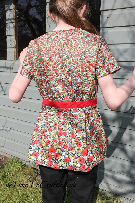 back of finished poppy tunic