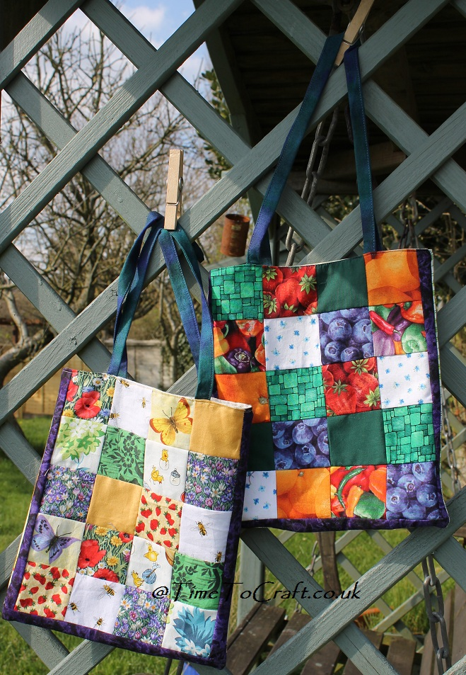 children handmade patchwork bags