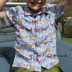 Camper van shirt all sewn up