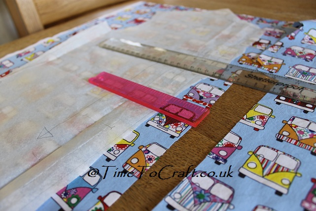 cutting camper van fabric