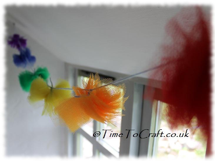 fabric pompom rainbow garland2