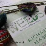 Yarn Along : Knitting and Weeding