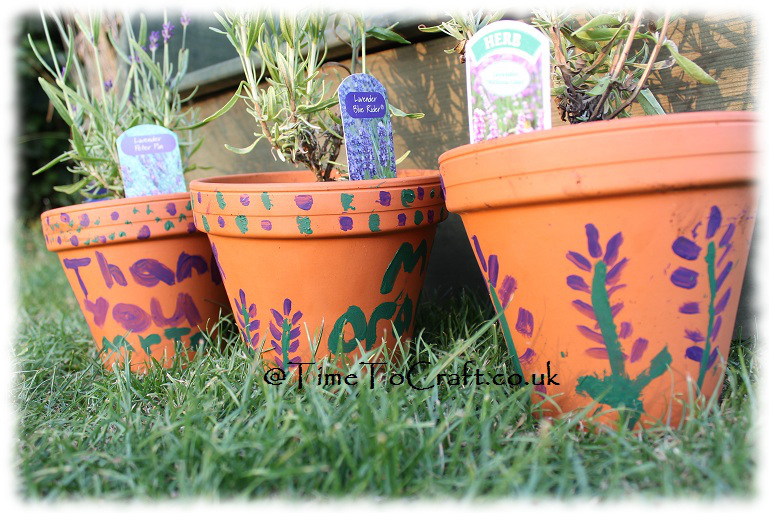 painted pots teacher gifts