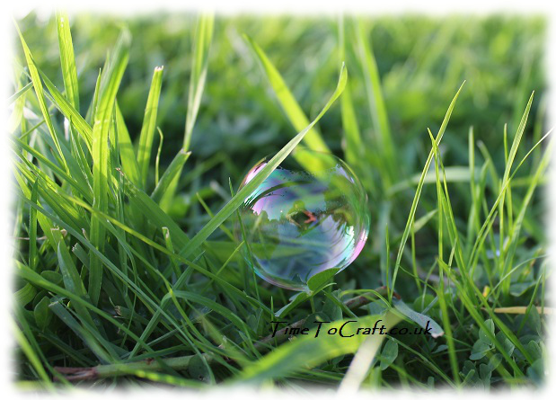 bubble in grass