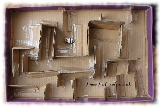 cardboard maze acorn craft
