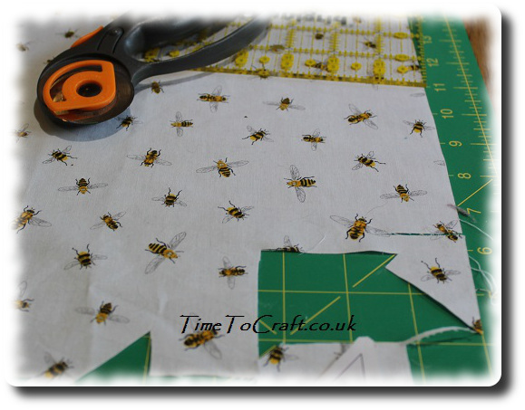 cutting out fabric