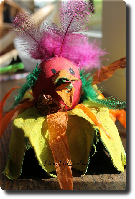 decorated egg chick