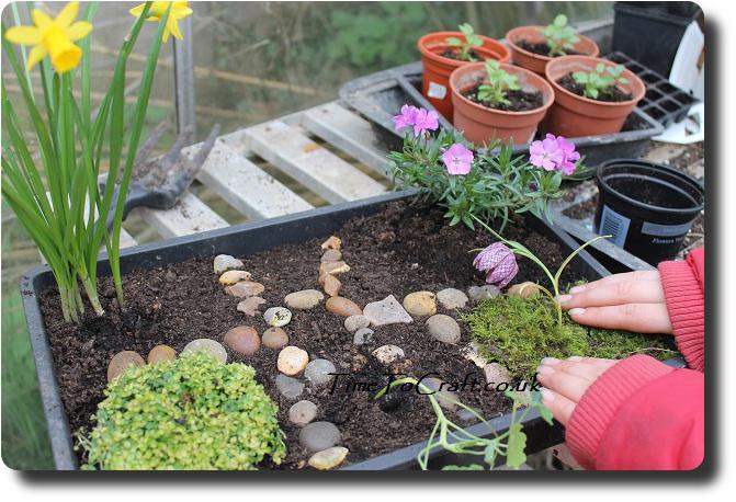 miniture flower garden