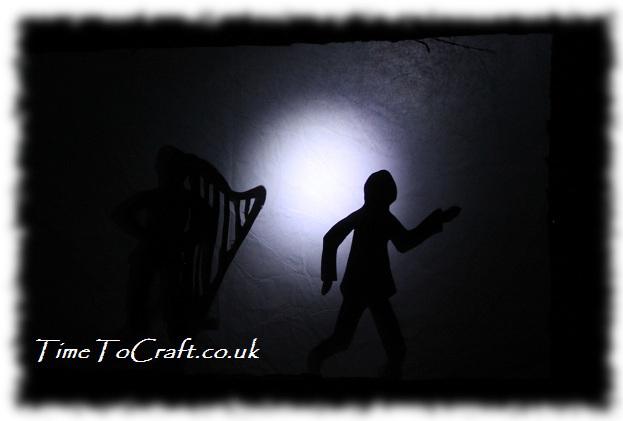 shadow play old man dancing a