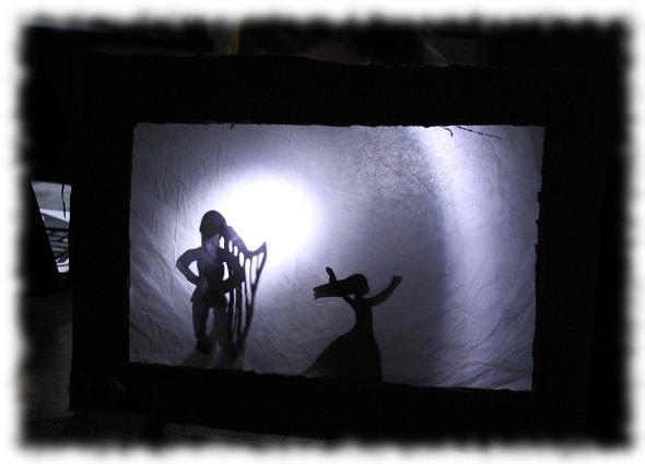 shadow play wife dancing a