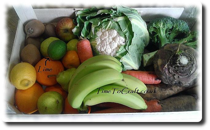 veg box with lime