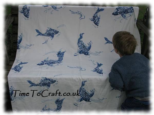 fish curtain fabric