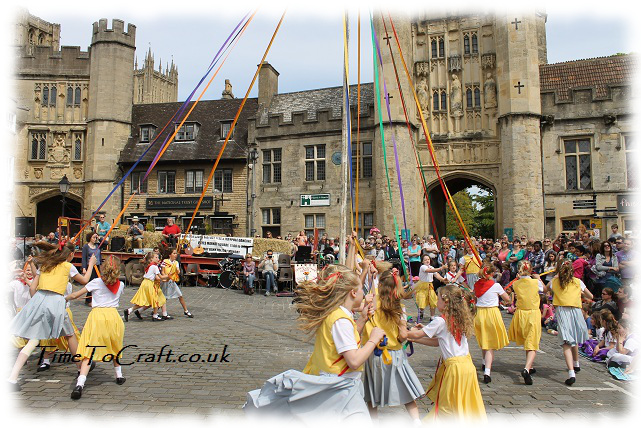 skipping around the maypole