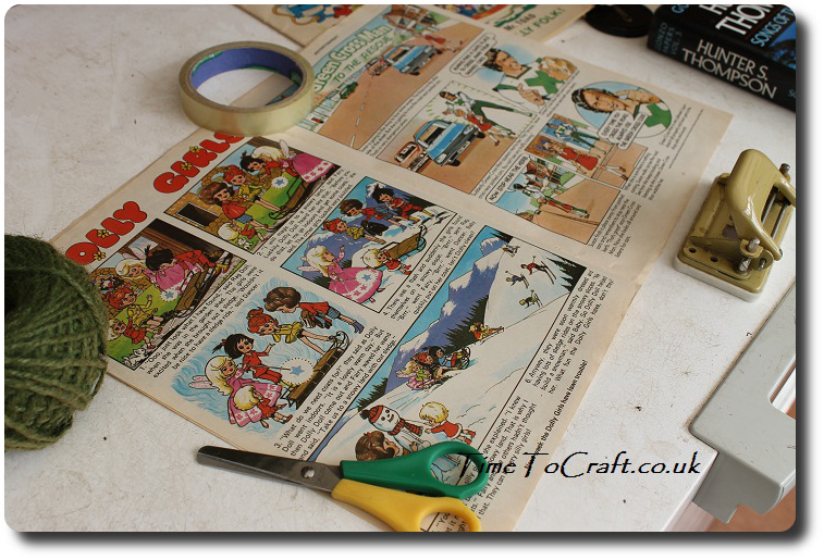 comic bag making