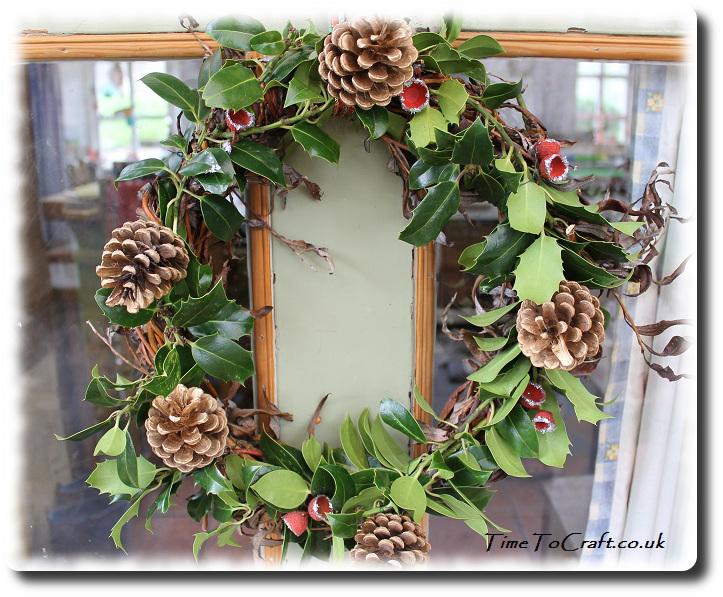 Christmas homemade and homegrown wreath