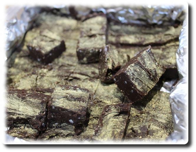 chocolate and gold fudge