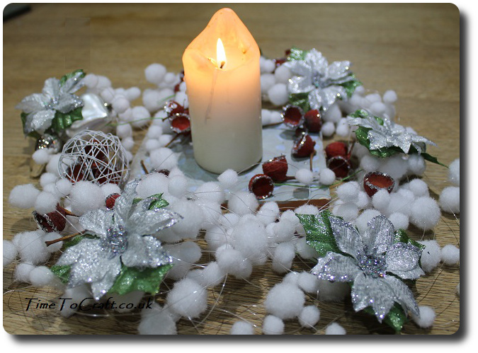 winter table centre piece 1