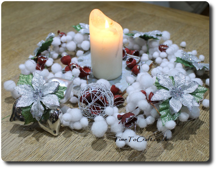 winter table centre piece 4