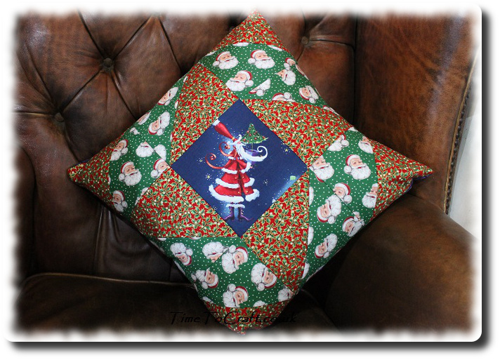 Christmas Patchwork cushion