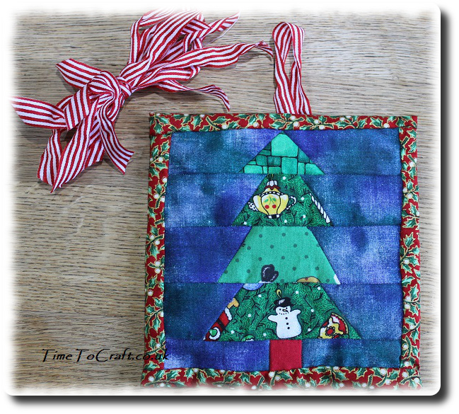 Christmas Tree Patchwork picture