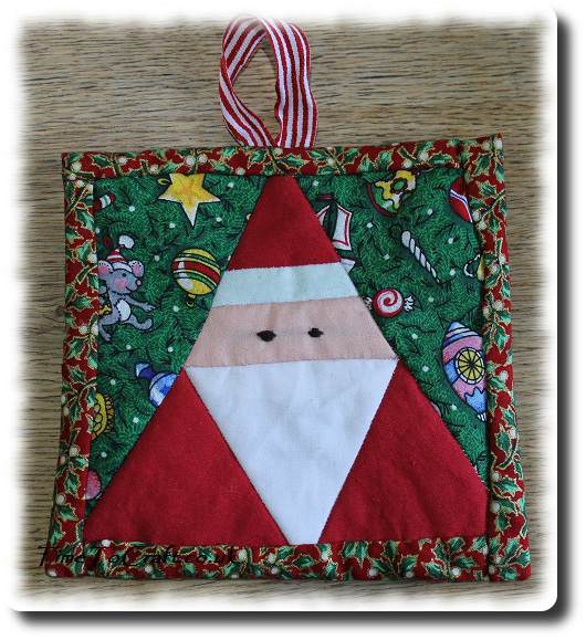 Father Christmas Santa Patchwork picture