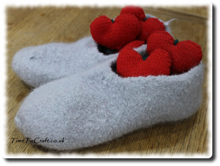 homemade felted slippers a