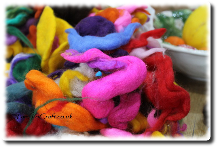 wool for felting colourful