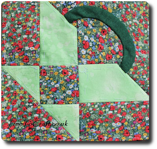 Dear Daughter quilt block basket side