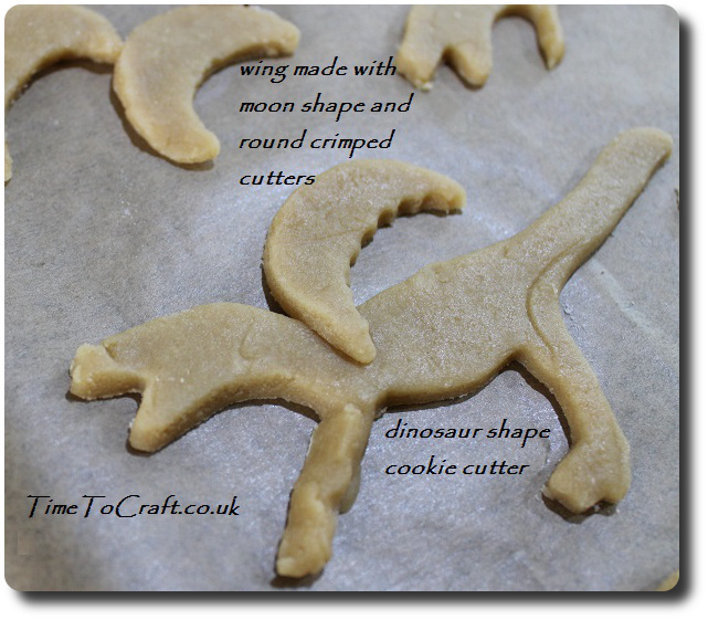 assembling welsh dragon cookies
