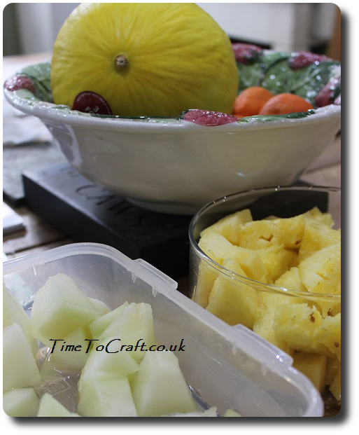 cut up fruit for packed lunches