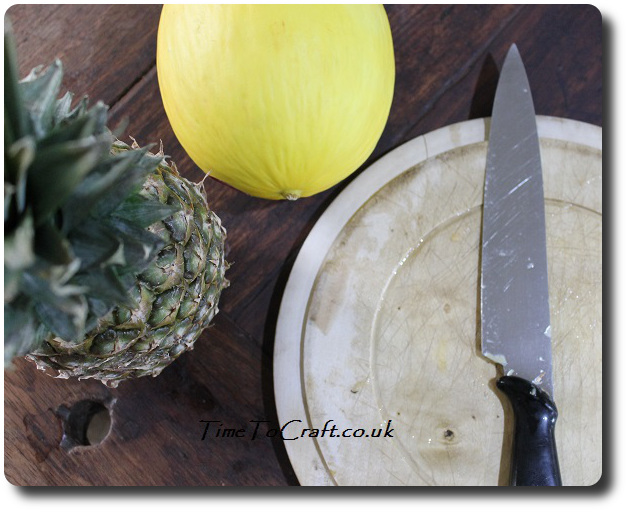 cutting up fruit thrifty kitchen tip