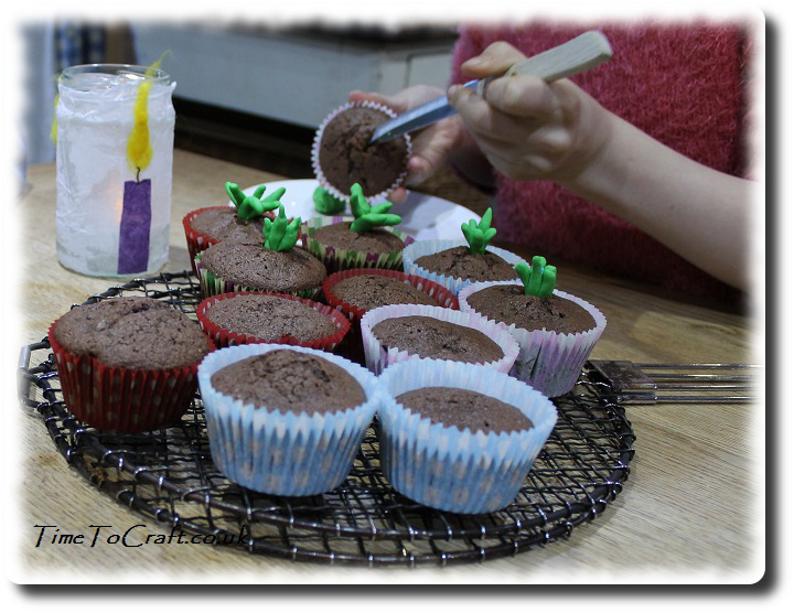 digging out sprouting cakes