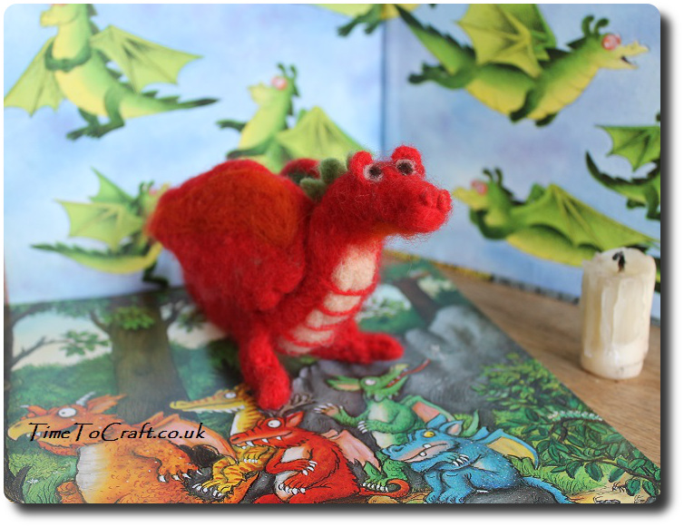 needlefelt welsh dragon red 4