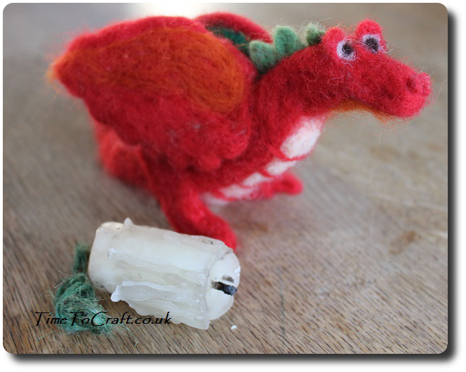 needlefelt welsh dragon red