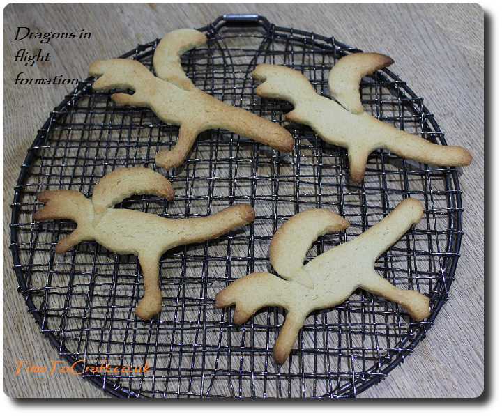 welsh dragon cookies in flight formation