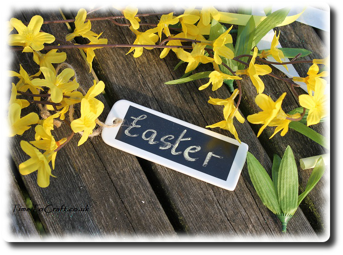 Easter wreath name tag