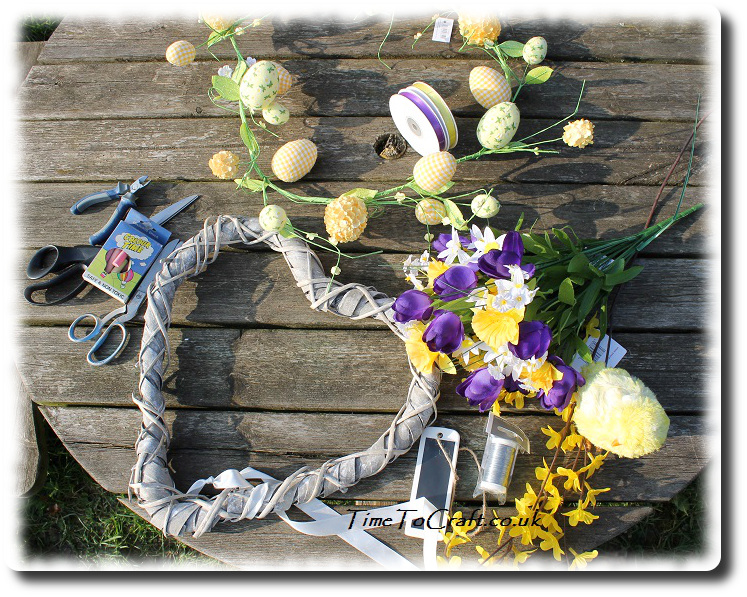 easter wreath components