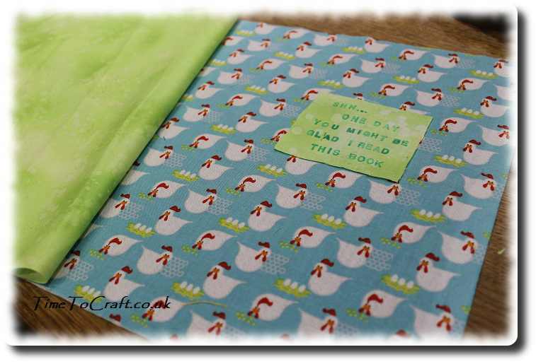 world book day book cover fabric