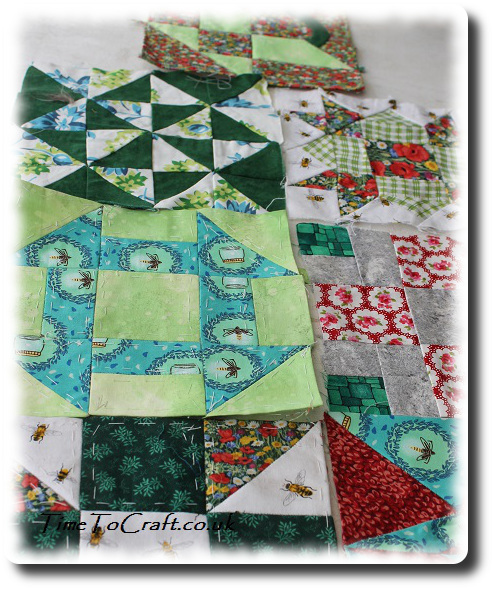 wrench quilt block among other blocks 2