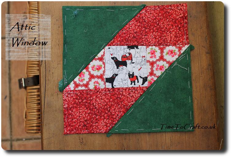 Attic Window quilt block